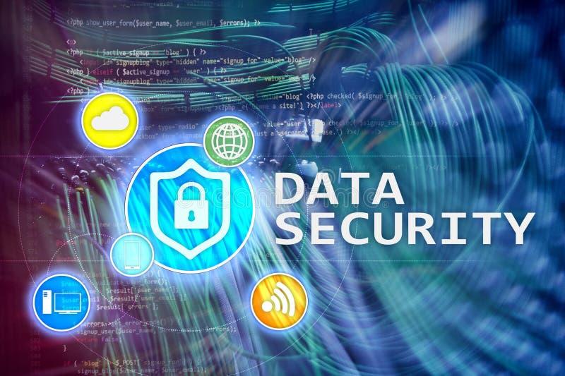 Protezione dei dati, prevenzione di crimine cyber, protezione delle informazioni di Digital Chiuda le icone ed il fondo a chiave  fotografie stock