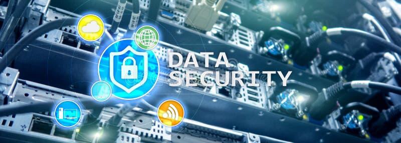 Protezione dei dati, prevenzione di crimine cyber, protezione delle informazioni di Digital Chiuda le icone ed il fondo a chiave  immagini stock