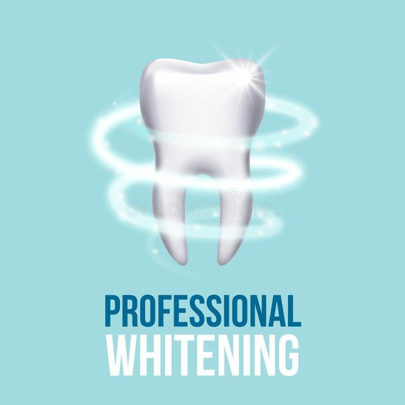 Protezione dei denti, concetto medico dentario di vettore di cura del dente illustrazione vettoriale