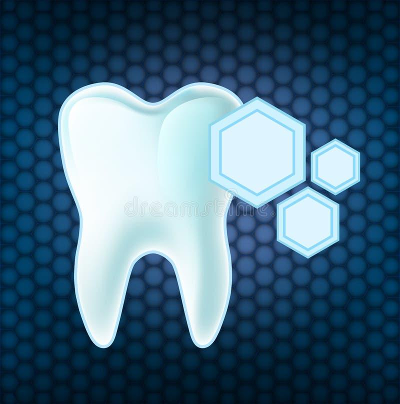 Protezione dei denti di concetto Illustrazione di vettore di ENV 10 royalty illustrazione gratis