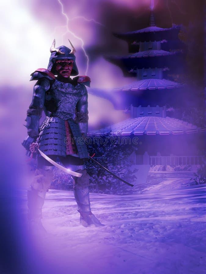 Protezione del samurai royalty illustrazione gratis