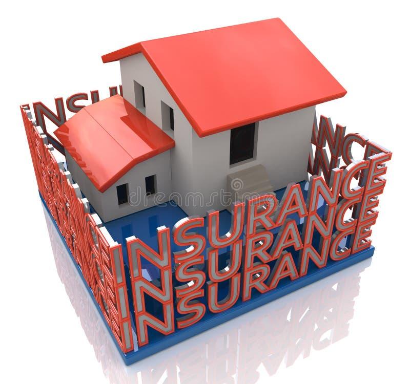 Protezione della casa di assicurazione illustrazione di stock
