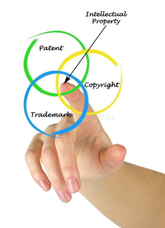 Protezione della proprietà intellettuale fotografia stock