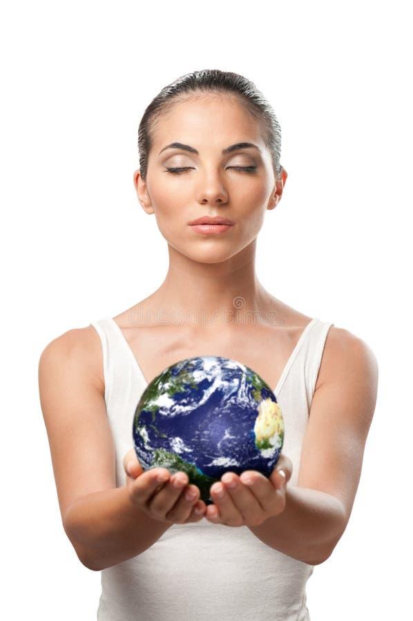 Protezione della terra del pianeta immagine stock libera da diritti
