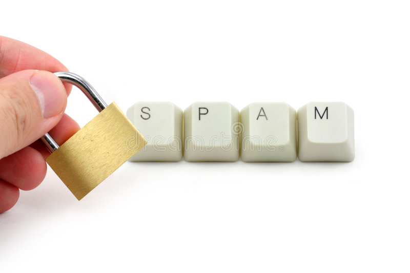 Protezione dello Spam del calcolatore fotografie stock