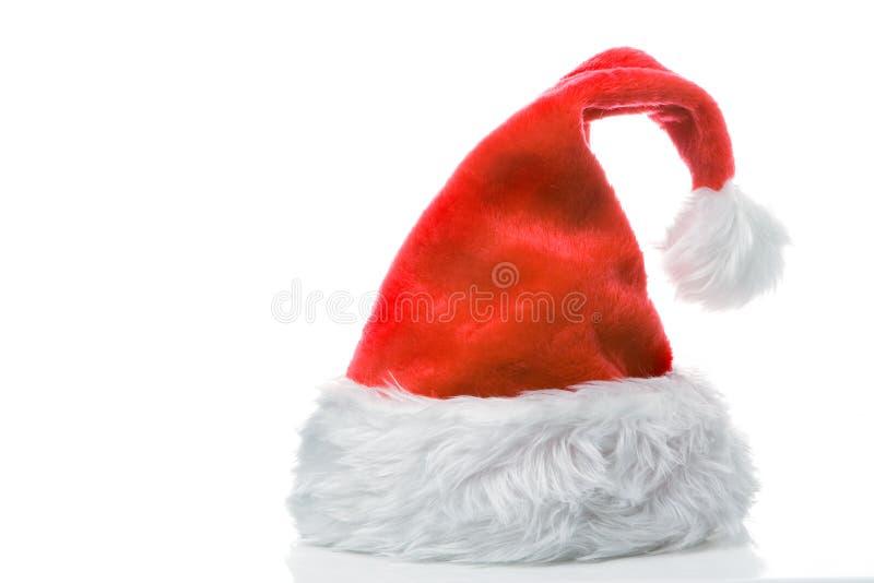 Protezione di colore rosso del Babbo Natale fotografie stock libere da diritti