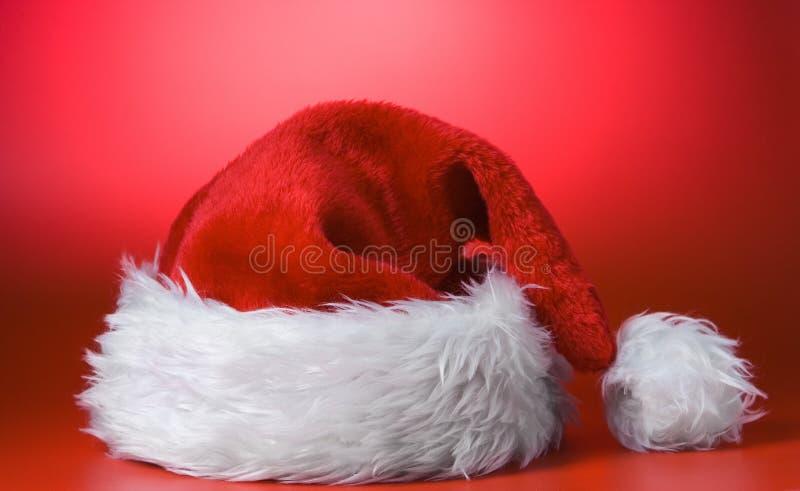 Protezione di colore rosso del Babbo Natale fotografia stock