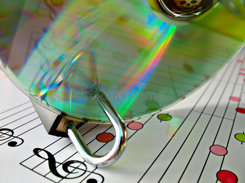 Protezione di pirateria di musica immagini stock libere da diritti
