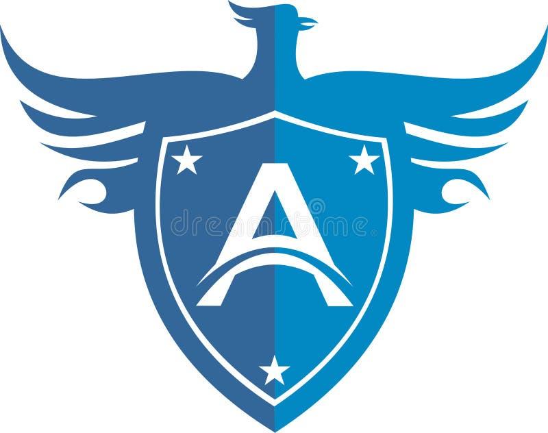 Protezione di riserva dell'uccello dell'aquila di logo fotografie stock libere da diritti