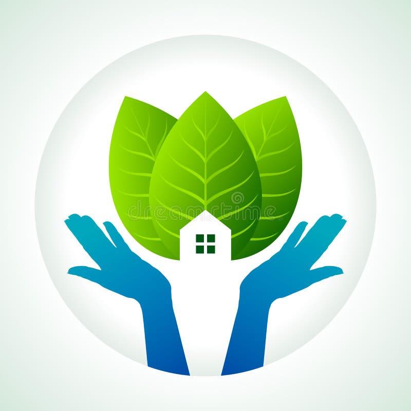 Protezione di verde, terra di risparmi royalty illustrazione gratis