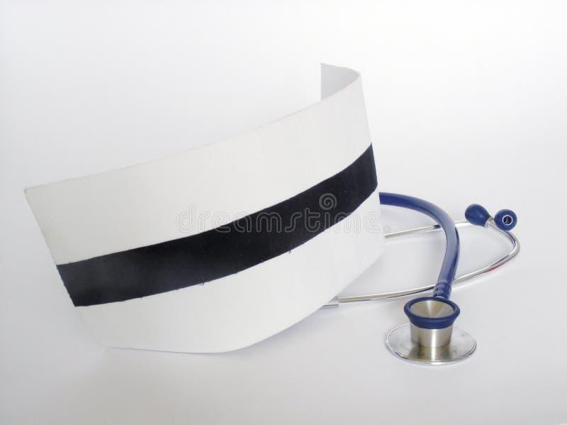 Protezione e stetoscopio dell'infermiera fotografia stock