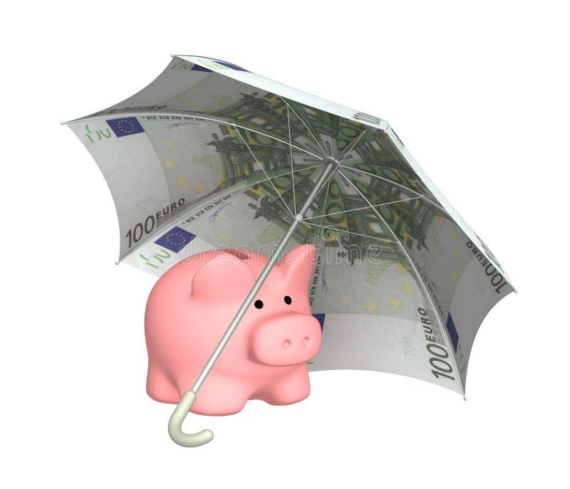 Protezione finanziaria royalty illustrazione gratis