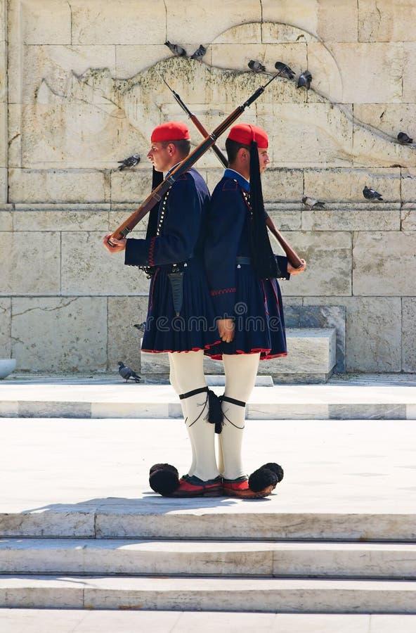 Protezioni del Greco a Atene immagini stock libere da diritti