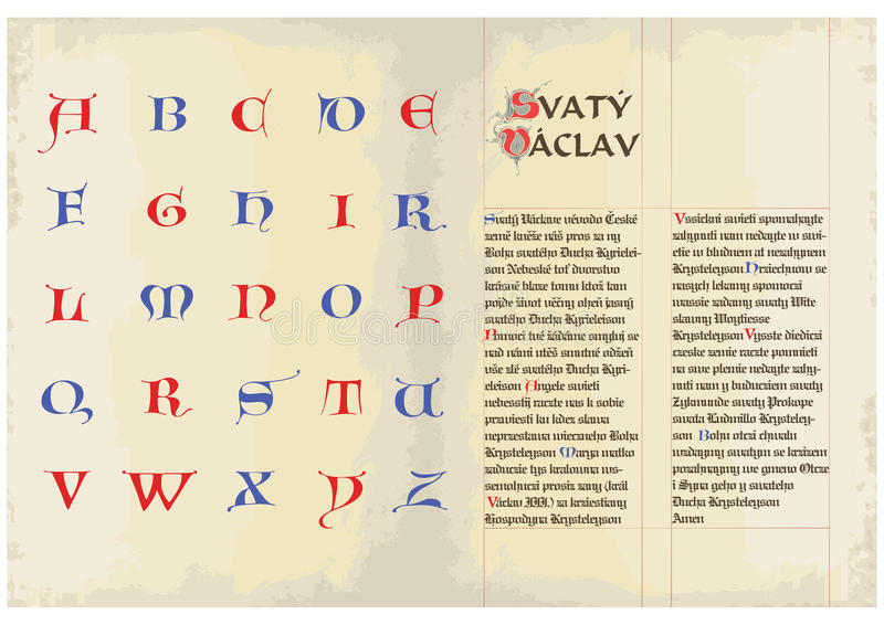 Protezioni gotiche - alfabeto illustrazione di stock