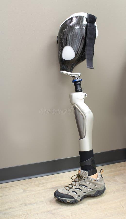 Prothèse de jambe avec la chaussure photographie stock