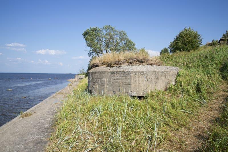 Protivoshturmovaya момент зажигания в рифе Kronstadt форта стоковые изображения rf