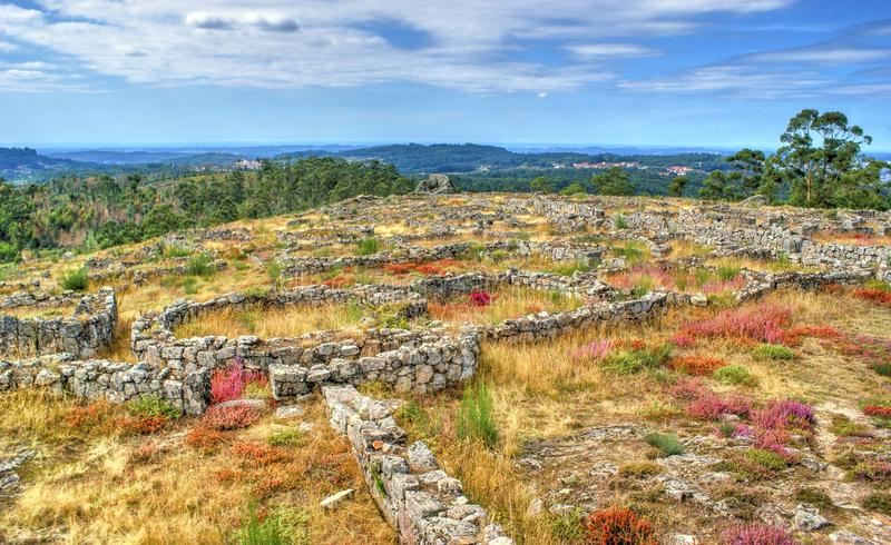 Download Proto-historic Settlement In Sanfins De Ferreira Stock Photo - Image of past, architecture: 95570290