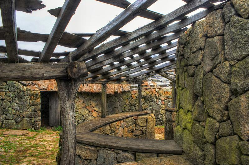 Download Proto-historic Settlement In Sanfins De Ferreira Stock Photo - Image of archeology, europe: 95570594