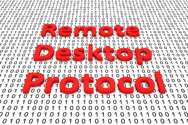 Protocolo de escritorio remoto libre illustration
