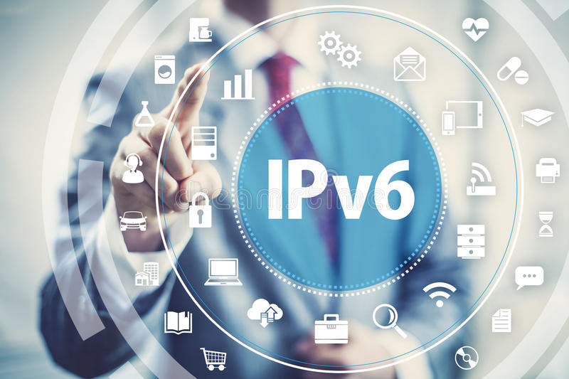 Protocolo de red IPv6 fotos de archivo