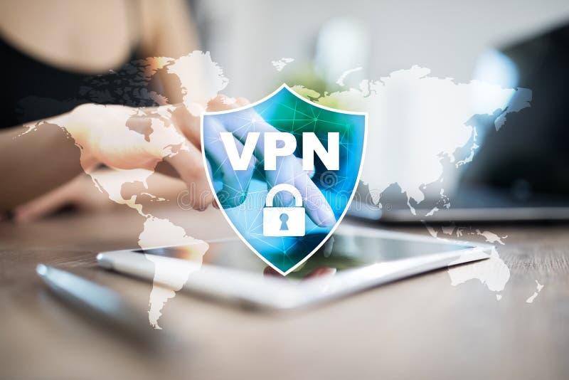 Protocolo de red privada virtual del VPN Tecnología cibernética de la seguridad y de la conexión de la aislamiento Internet anóni libre illustration