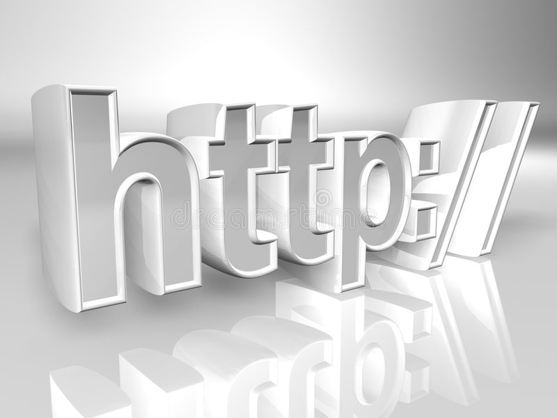 Protocolo de transferencia de hypertext ilustración del vector