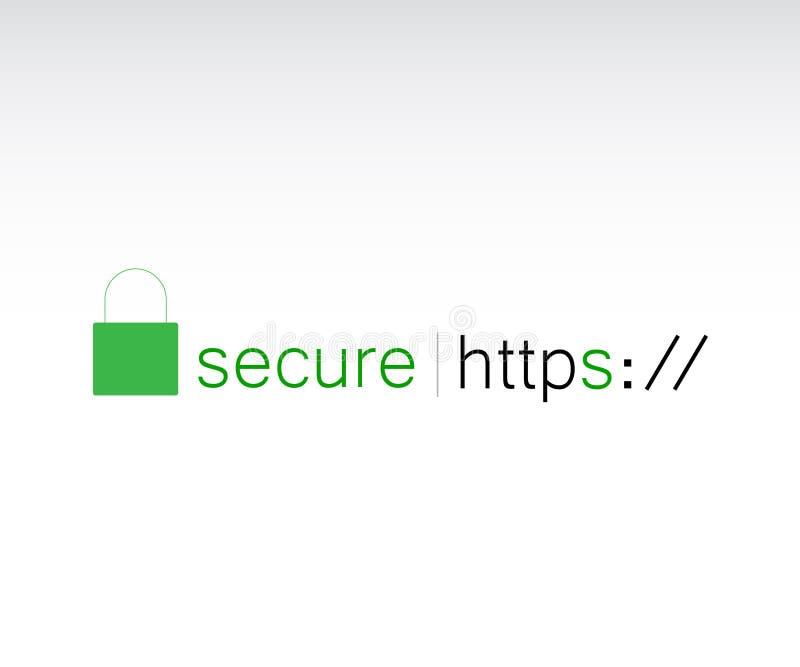 Protocolo del HTTPS ilustración del vector