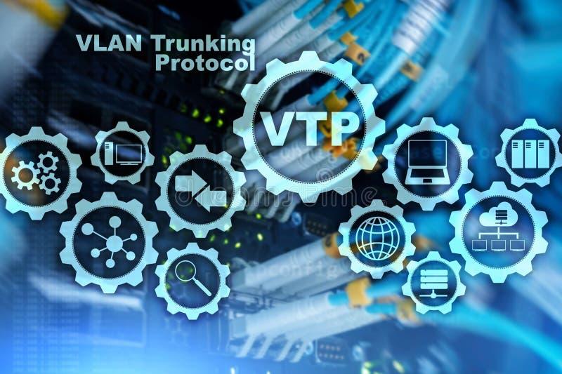 Protocolo do entroncamento de VLAN Rede local virtual VTP ilustração royalty free