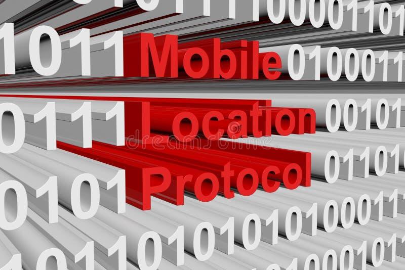 Protocolo móvil de la ubicación stock de ilustración
