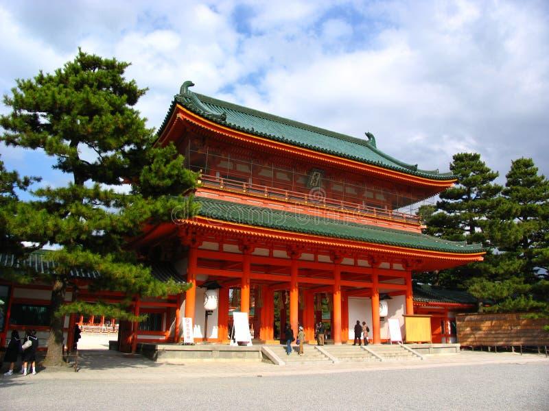 protokół z kioto do świątyni fotografia stock