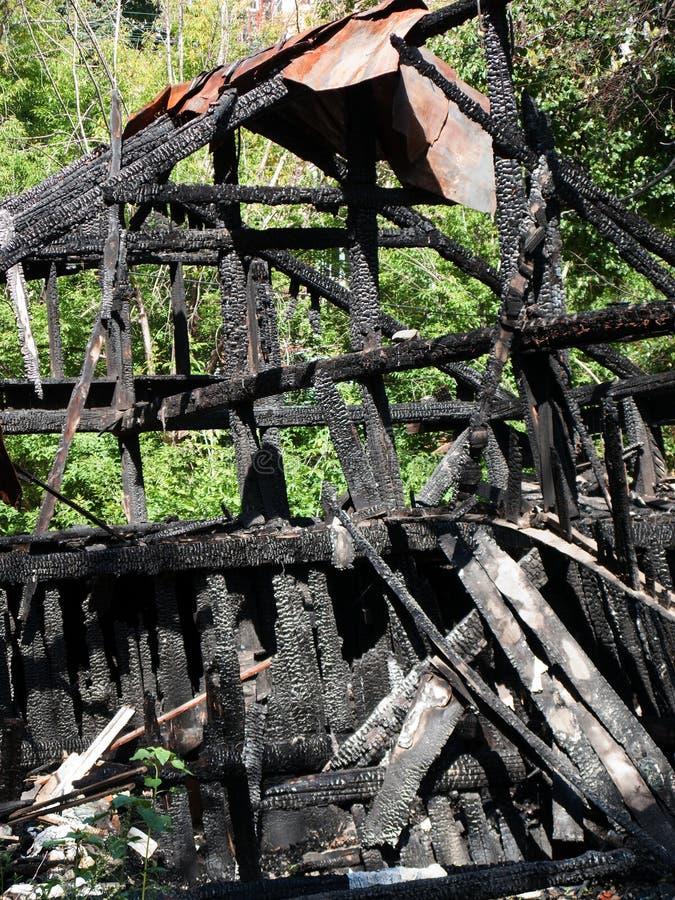 Protokoll brannte durch Feuer lizenzfreie stockfotografie