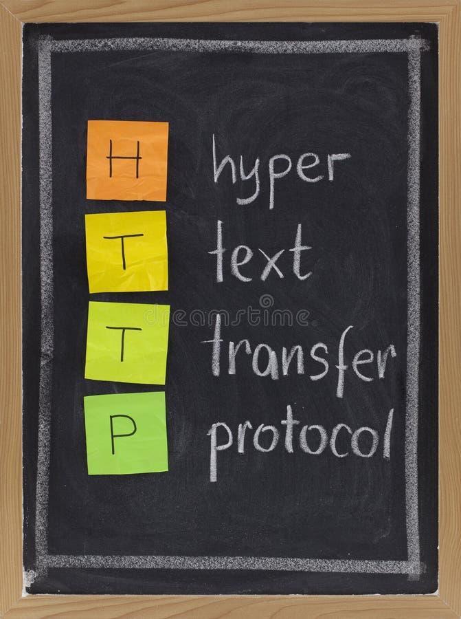 Protokoll des Hyper Textes Übergangs- HTTP stockfotografie