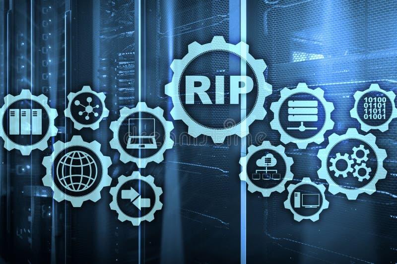 Protokoll för information om REVAsändning Teknologi knyter kontakt cocept royaltyfri illustrationer