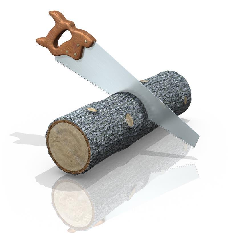 Protokoll Sawing lizenzfreie abbildung