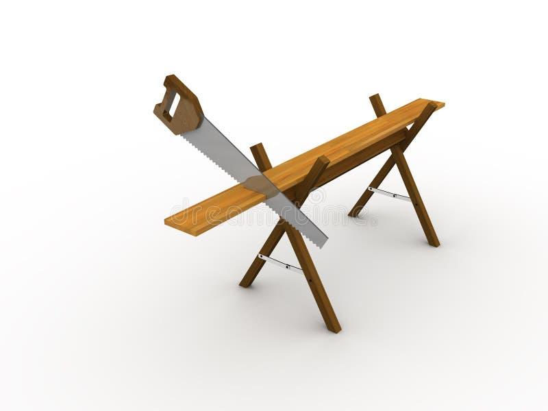 Protokoll Sawing vektor abbildung