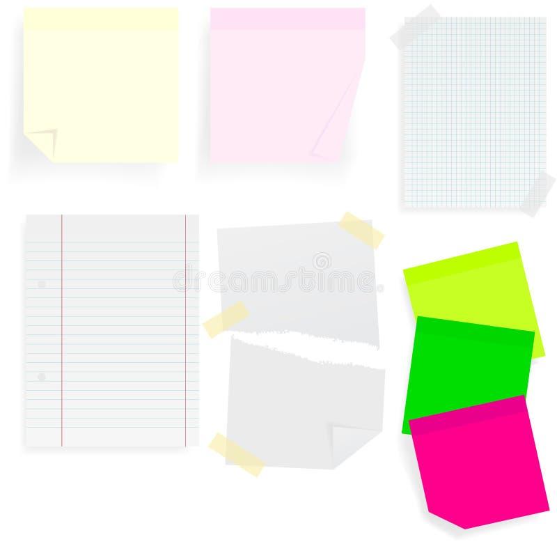 Protokoll-Steuerknüppel und Papiere vektor abbildung