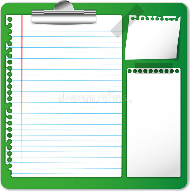 Protokoll und Papier stock abbildung