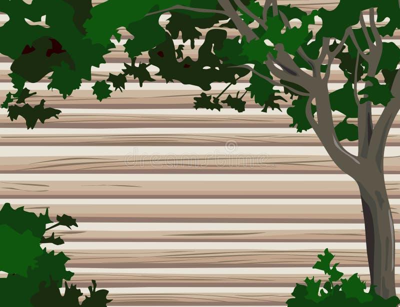 Protokoll-Wand mit Baum vektor abbildung