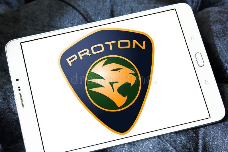 Proton-autoembleem royalty-vrije stock afbeeldingen