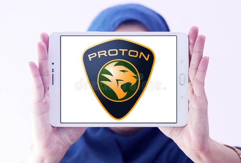 Proton-autoembleem stock afbeelding