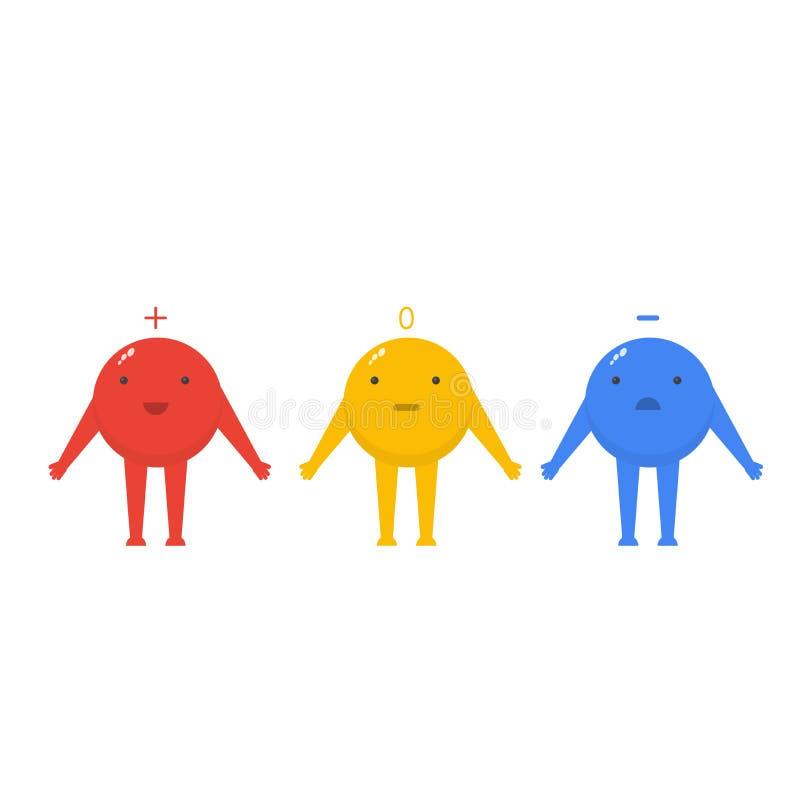 Proton, Elektron und Neutron sind nette Charaktere vektor abbildung