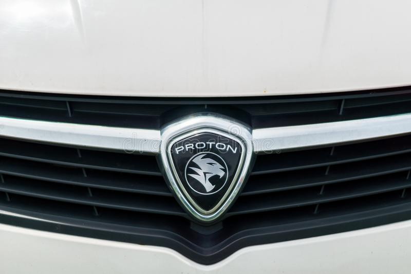 Protonowy firma loga emblemat na samochodzie zdjęcia royalty free