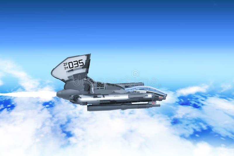 Prototipo aéreo del vehículo del combate stock de ilustración