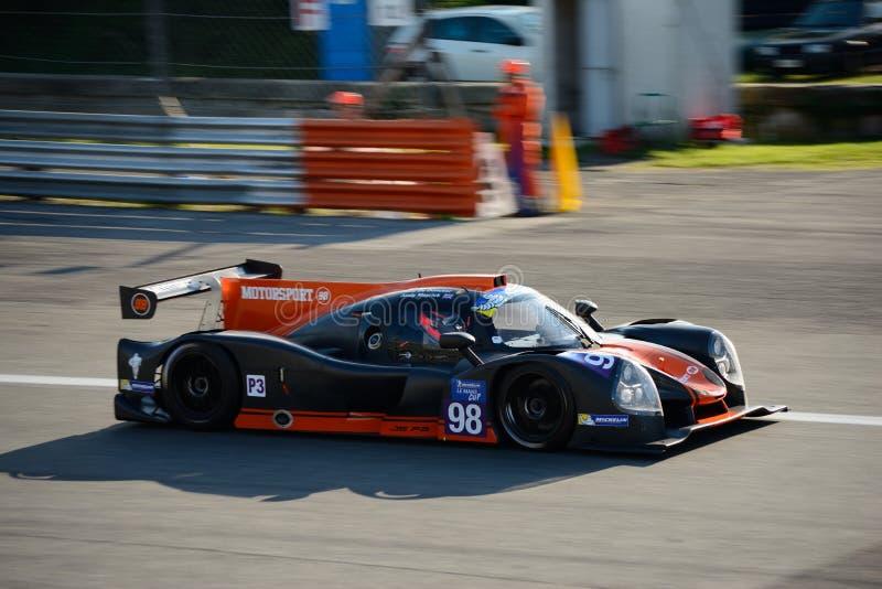 Prototipo de los deportes LMP3 del Motorsport 98 en la acción fotos de archivo