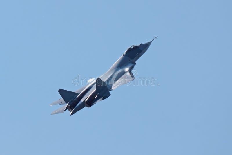Prototipo de Sukhoi PAK FA T-50 imagen de archivo libre de regalías