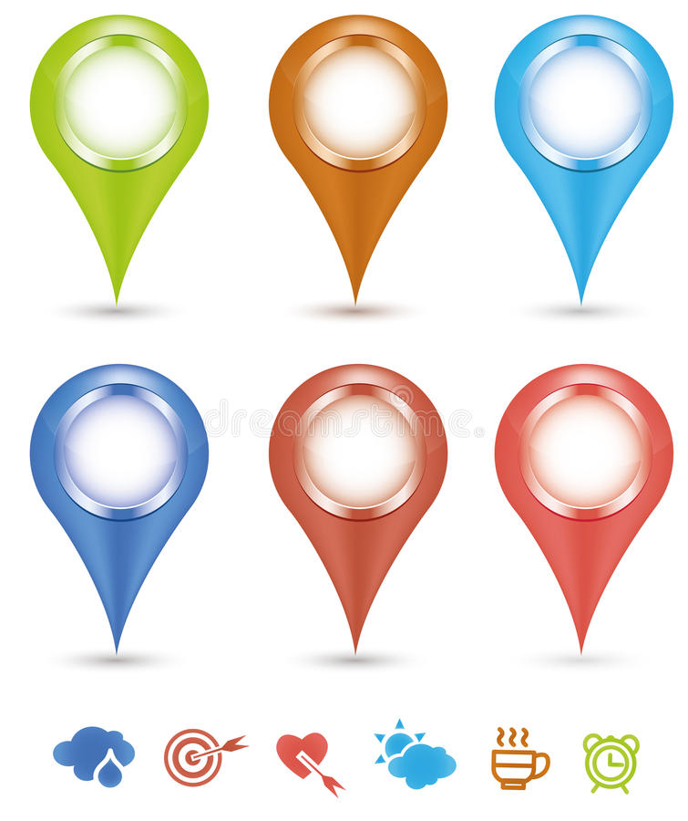 Prototipo del contacto de los iconos libre illustration