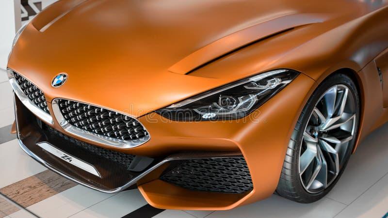 Prototipo della terza generazione seguente della nuova automobile di BMW Z4 fotografia stock libera da diritti
