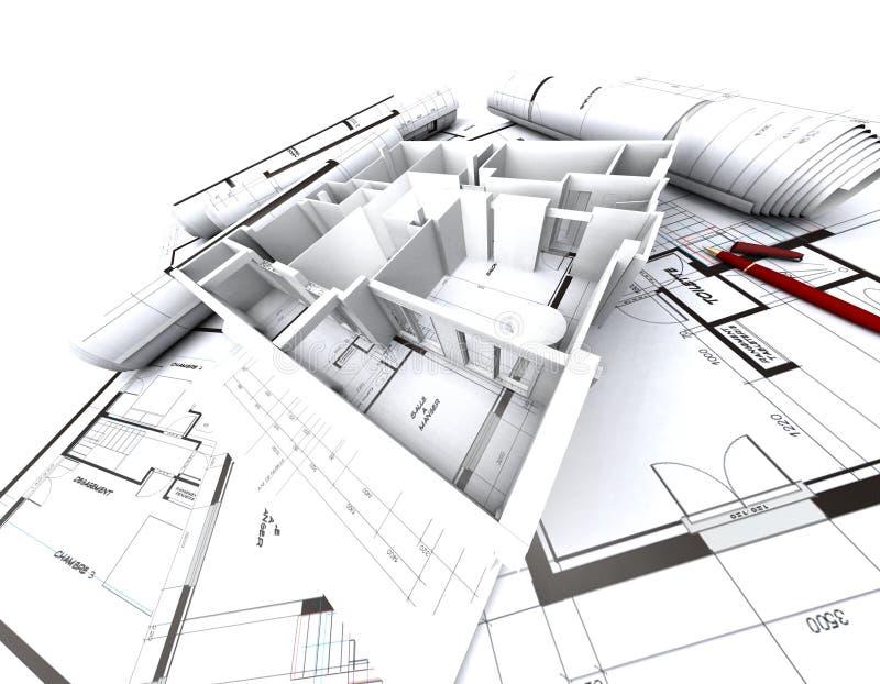 Prototipo y modelo de Appartmen libre illustration
