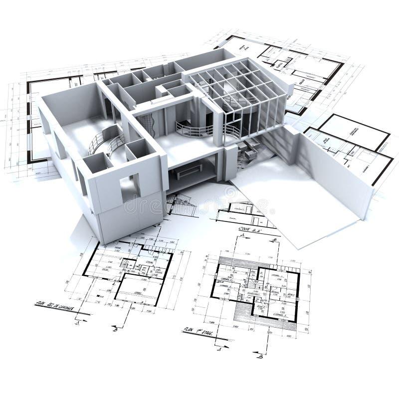 Prototipo y modelos del desván ilustración del vector