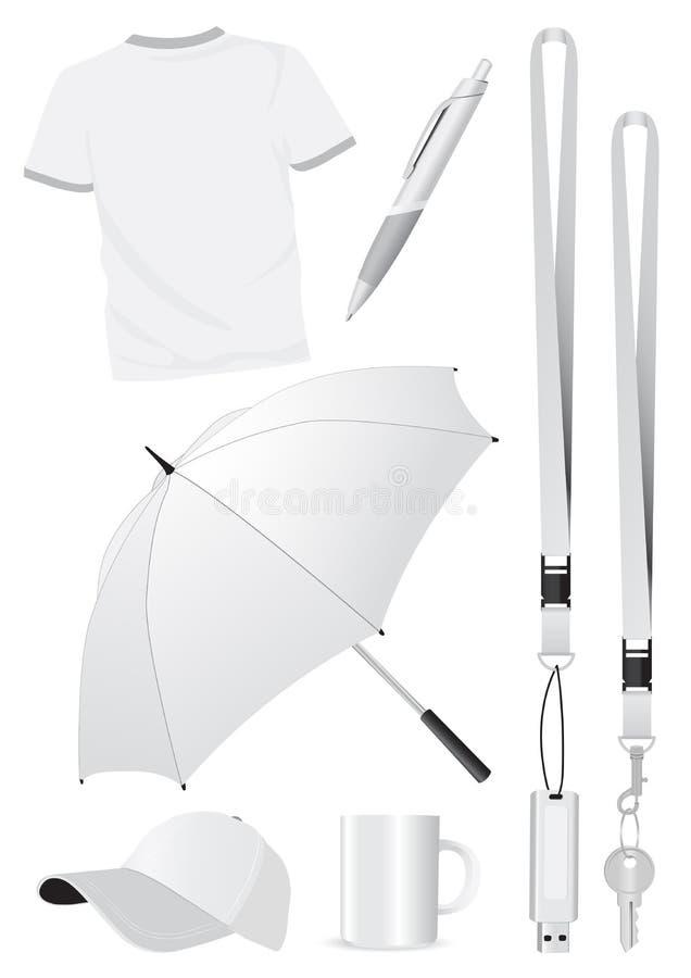 Prototipos en blanco del regalo de la promoción ilustración del vector